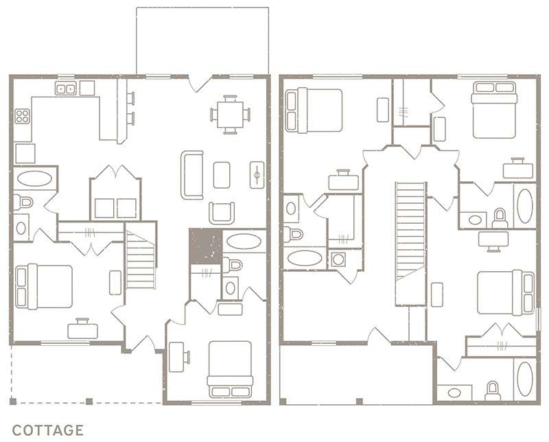 4 Bedroom & 4½ Bath Floorplan - Redpoint Denton